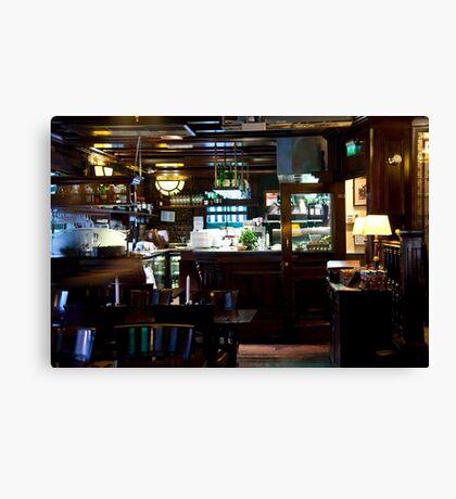 Dutch Bistro Bar Canvas Print
