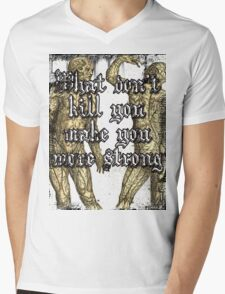More Strong Mens V-Neck T-Shirt