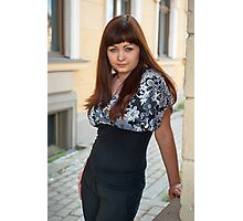 Beauty woman on the street. Photographic Print