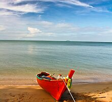 Serenity - Little Red Boat by vanyahaheights