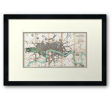 Vintage Map of London England (1806) Framed Print