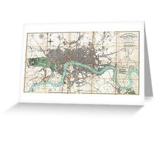 Vintage Map of London England (1806) Greeting Card
