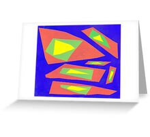 Collage multicolor 5425 Greeting Card