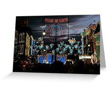 Disneyworld at Christmas - lights, lights and lights! Greeting Card