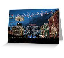 Christmas at Disneyworld - a land of lights Greeting Card
