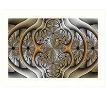 Pewter and Brass I Art Print