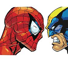 spiderman vs wolverine Photographic Print