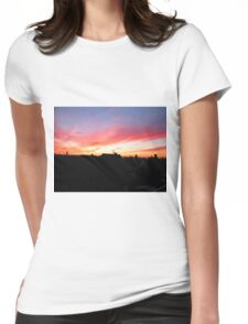 street sky Womens Fitted T-Shirt