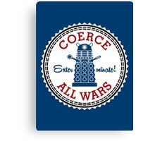 Coerce All Wars (clean) Canvas Print