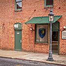 """Town's Necessities"" - restrooms and police station in Berlin, Maryland by ArtThatSmiles"