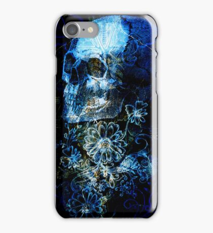Skull and Flowers 3 iPhone Case/Skin