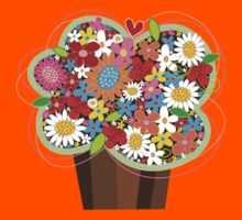 Spring Flowers Cupcake T-shirt Kids Clothes