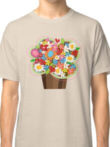 Spring Flowers Whimsical Cupcake Classic T-Shirt