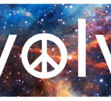 Evolve: Coexist in Peace (deep galaxy version) Sticker