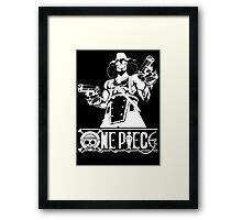 Guns And Usopp (Custom Funny) Framed Print