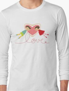 Valentine Love Boy Hearts Girl Long Sleeve T-Shirt