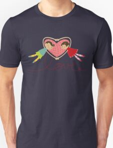 Valentine Love Boy Hearts Girl Unisex T-Shirt