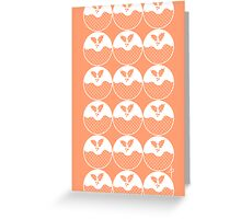 Pudding Pattern Greeting Card