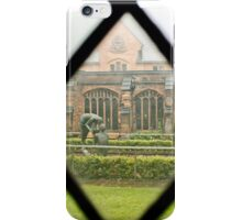 Looking Through a Cloister Window to the Centre Garden iPhone Case/Skin
