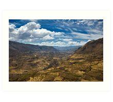 Colca Vista, Colca Valley, Peru Art Print