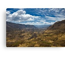Colca Vista, Colca Valley, Peru Canvas Print