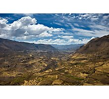 Colca Vista, Colca Valley, Peru Photographic Print