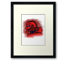 Blood Marine Framed Print
