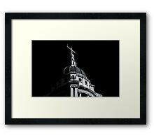 Black and White Justice Framed Print