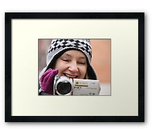 Smile you're on camera Framed Print