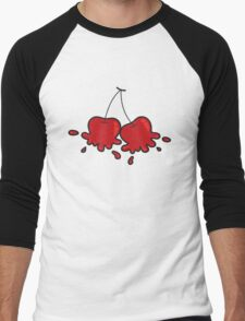 Splat! Cute Cheeky Cherries Men's Baseball ¾ T-Shirt
