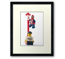 Have no fear! Spidey is here! Framed Print