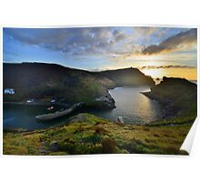 Cornwall: October Sunset at Boscastle Poster