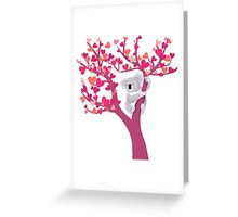 Love Koala in Tree Greeting Card