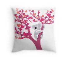 Love Koala in Tree Throw Pillow