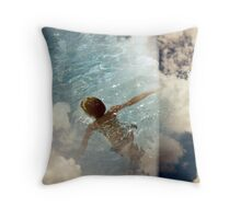 down under the big blue Throw Pillow