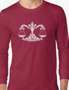Zodiac Sign Libra White Long Sleeve T-Shirt