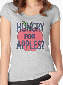 Rick & Morty - Hungry for Apples Women's Fitted Scoop T-Shirt
