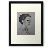 Zoe Sugg Drawing Framed Print
