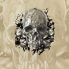 Death's Head Skull iPhone Case by Brent Schreiber