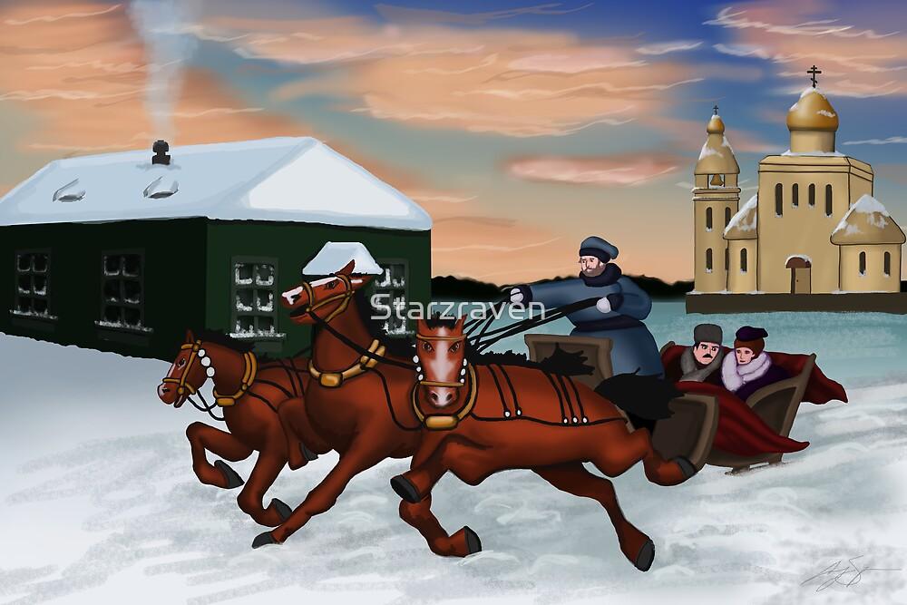 Troika - Winter Scene by Starzraven
