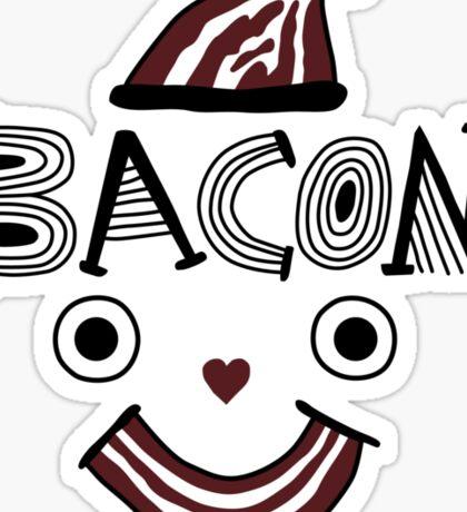 Bacon Face Sticker
