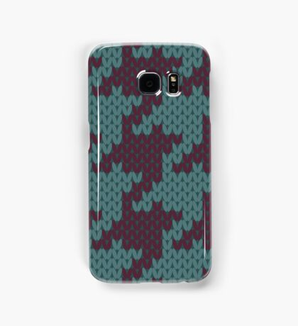 Faux Knit Houndstooth Samsung Galaxy Case/Skin