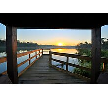 Sunrise Over Bay Area Park Photographic Print