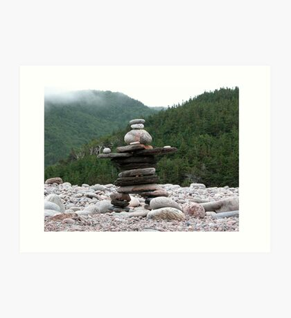 Atlantic Inukshuk, Cape Breton National Park.  Art Print
