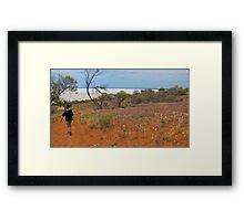 Boy in the Desert (Australian)  Framed Print