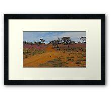 Australian Spring Desert Cross Roads  Framed Print