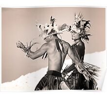 Mwokilese Dancers - Pohnpei, Micronesia Poster