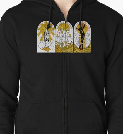 WATERSHIP DOWN TRIPTYCH Zipped Hoodie