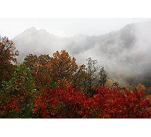 THE CHIMNEY TOPS,AUTUMN STORM Photographic Print