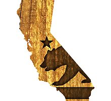 California State Bear (wood design) by robotface